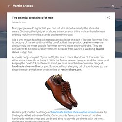 Two essential dress shoes for men