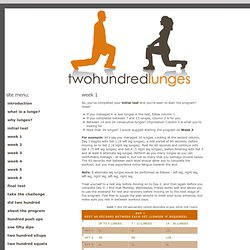 two hundred lunges - week 1