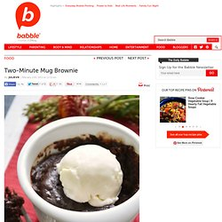 Two Minute Mug Brownie