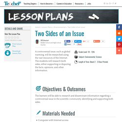 Two Sides of an Issue Lesson Plan