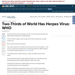 2/3 of World Has Herpes