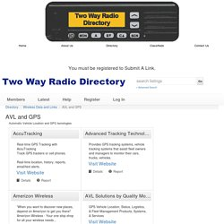 Two Way Radio Directory: AVL and GPS