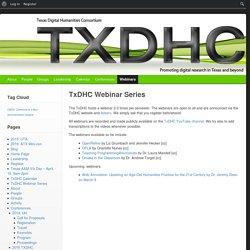 TxDHC Webinar Series
