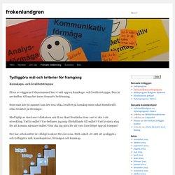 Kunskap och kvalitetstrappa - frokenlundgren, Borås