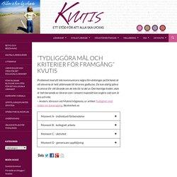 """""""Tydliggöra mål och kriterier för framgång"""" KvUtiS"""