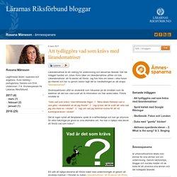 Att tydliggöra vad som krävs med lärandematriser - Rosana Månsson