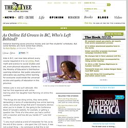 As Online Ed Grows in BC, Who's Left Behind?