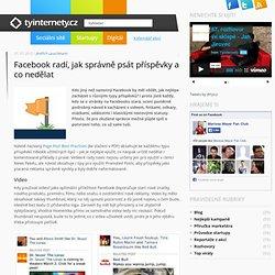 Facebook radí, jak správně psát příspěvky a co nedělat