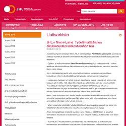 30.6. JHL:n Niemi-Laine: Työelämälähtöinen aikuiskoulutus lakkautusuhan alla