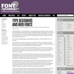 Type Designers<br />and Web Fonts