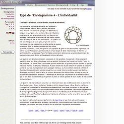 Type de l'Ennéagramme 4 - L'Individualiste