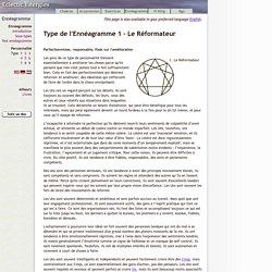 Type de l'Ennéagramme 1 - Le Réformateur