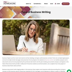 Type of Business Writing