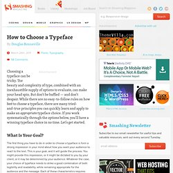 How to Choose a Typeface - Smashing Magazine