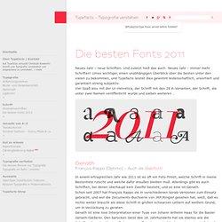 Die besten Fonts 2011