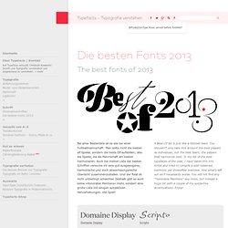Die besten Fonts 2013