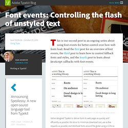 Font events: Controlling the flash of unstyled text