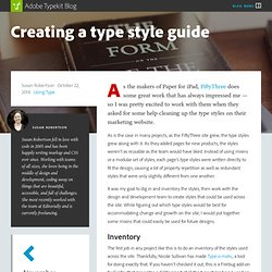 Creating a type style guide