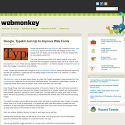 Google, Typekit Join Up to Improve Web Fonts