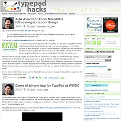 TypePad Hacks