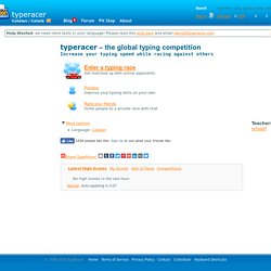 TypeRacer - Learn to type in Catalan (Català)