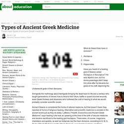 Types of Ancient Greek Medicine