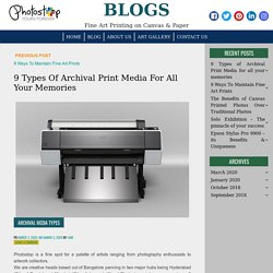 9 Types of Archival Print Media for all your memories