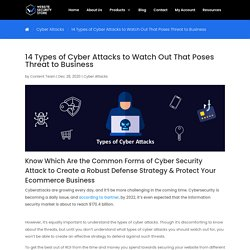 14 Types of Cyber Attacks to Watch Out That Poses Threat to Business