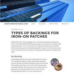 Types of Backings for Iron-on Patches