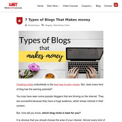 7 Types of Blogs that makes money