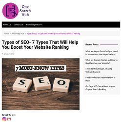 Types of SEO- 7 Types That Will Help You Boost Your Website Ranking