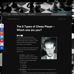 The 6 Types of Chess Player – Which one are you?