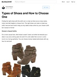Types of Shoes and How to Choose One