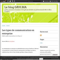 Les types de communication en entreprise - Le blog GRH.MA
