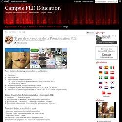 Types de correction de la Prononciation FLE