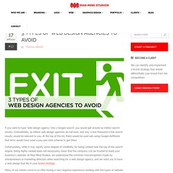 3 Types of Web Design Agencies That You Should Avoid
