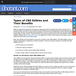 Types of CBD Edibles and Their Benefits