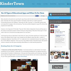 The 10 Types of Educational Apps and When To Use Them – Kindertown