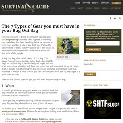 Bug Out Bag - The 7 Types of Gear You Must Have to Survive