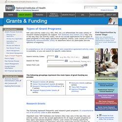 Types of Grant Programs