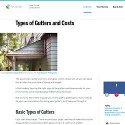 Rain Gutters Types