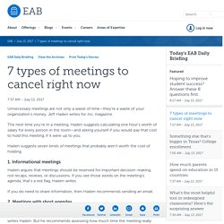 7 types of meetings to cancel right now