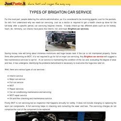 TYPES OF BRIGHTON CAR SERVICE