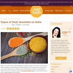 Types of Dahl Available In India