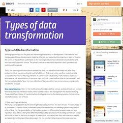 Types of data transformation