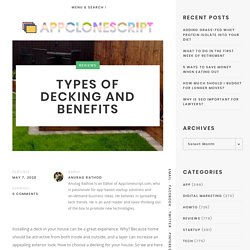 TYPES OF DECKING AND BENEFITS By Melaleuca Landscapes