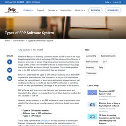 Types of ERP Software System