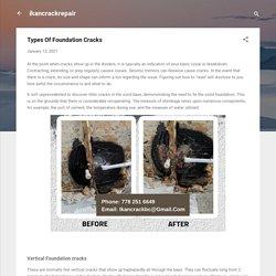 Types Of Foundation Cracks