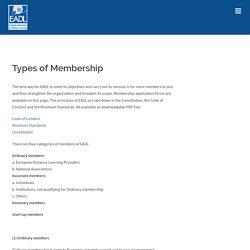 Types of Membership – EADL