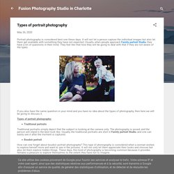 Here are some best Types of portrait photography
